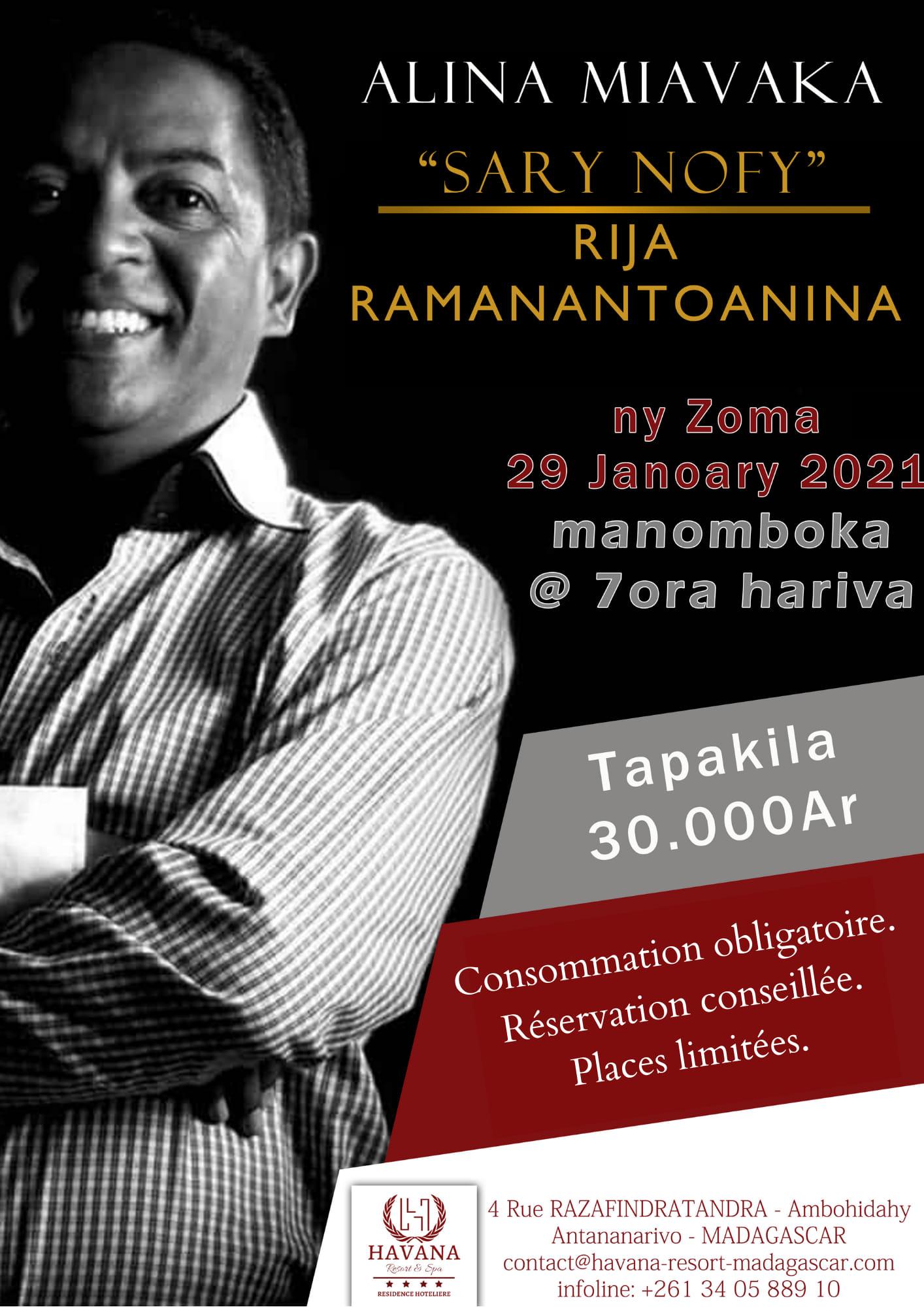 ‼️ SARY NOFY, avec Rija Ramanantoanina ‼️