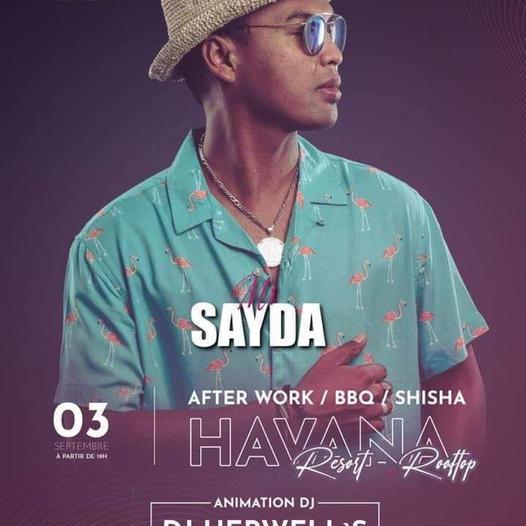 Rendez vous avec Mr Sayda le 03 Septembre au Rooftop ✨ à partir de 19h.